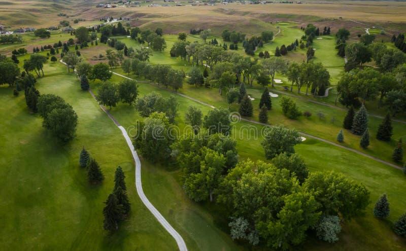 De Antenne van de golfcursus royalty-vrije stock foto