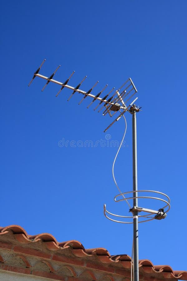 De antenne van de televisie stock foto