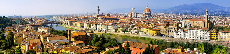 De antenne van Florence stock foto's