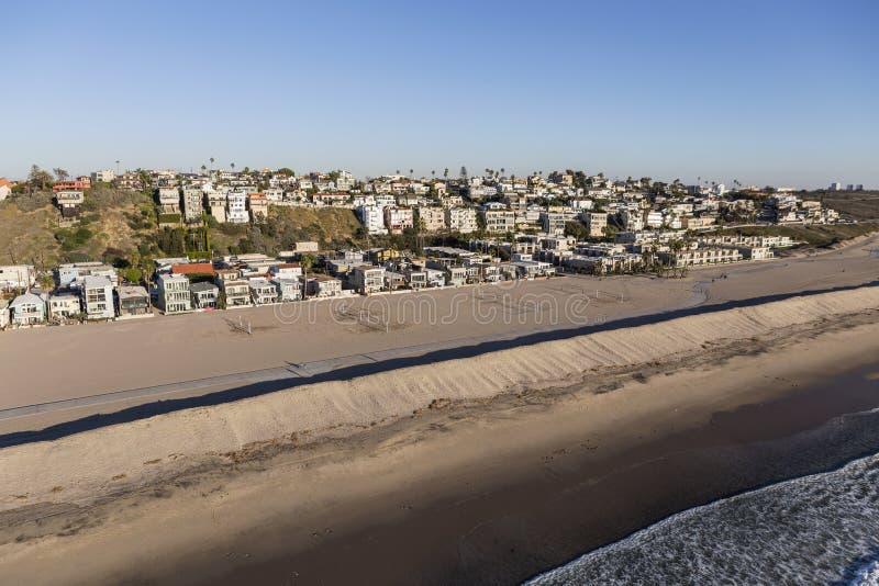 De Antenne van het Strandhuizen van Californië van de Provincie van Los Angeles stock afbeelding