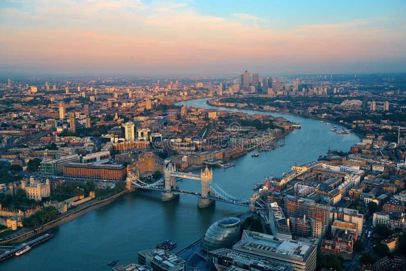De antenne van Londen stock fotografie