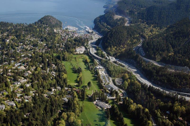 De Antenne van Vancouver - West-Vancouver royalty-vrije stock afbeelding