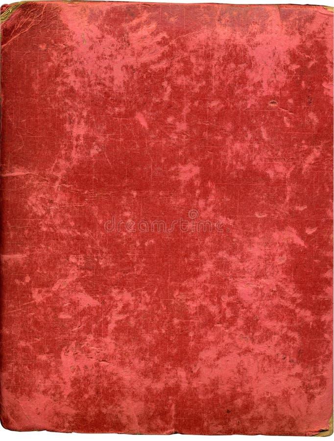 De antieke dekking van het pluchealbum royalty-vrije stock afbeeldingen