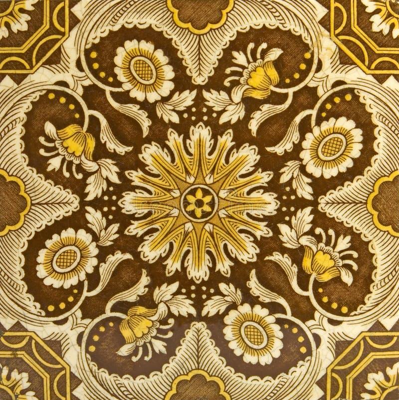 De antieke Esthetische Tegel van de Periode royalty-vrije stock afbeelding