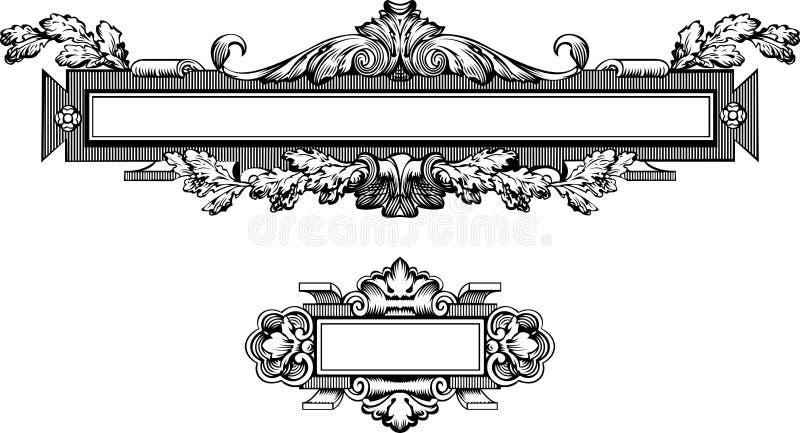 De antieke Gravure van het Frame vector illustratie