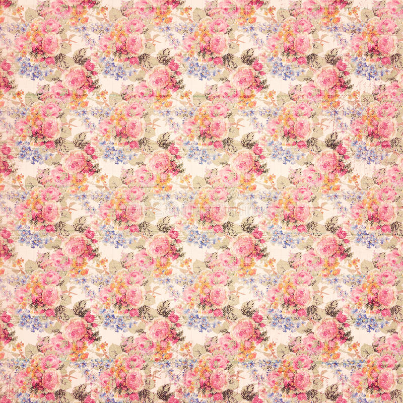 De antieke grungy Uitstekende achtergrond van stijl botanische roze bloemenrozen op hout vector illustratie