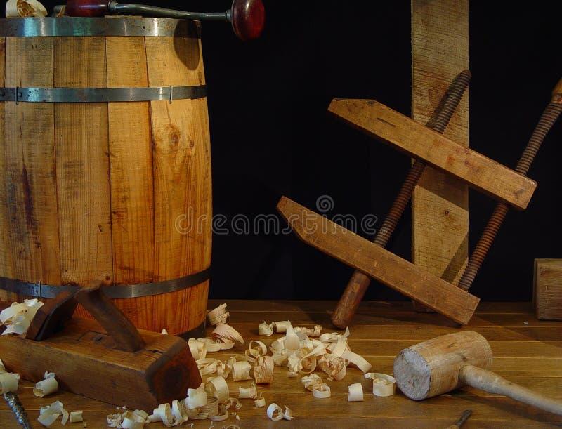 De antieke Hulpmiddelen van de Houtbewerking stock afbeeldingen