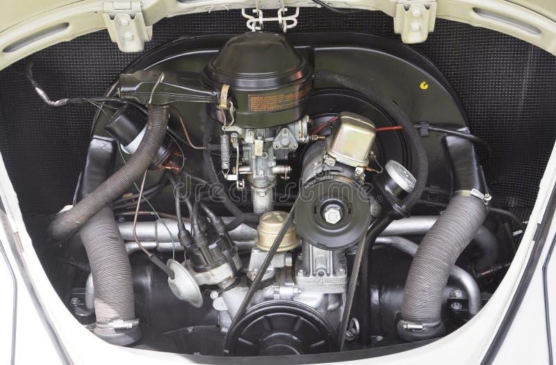 De antieke Motor van de Kever van Volkswagen royalty-vrije stock afbeeldingen