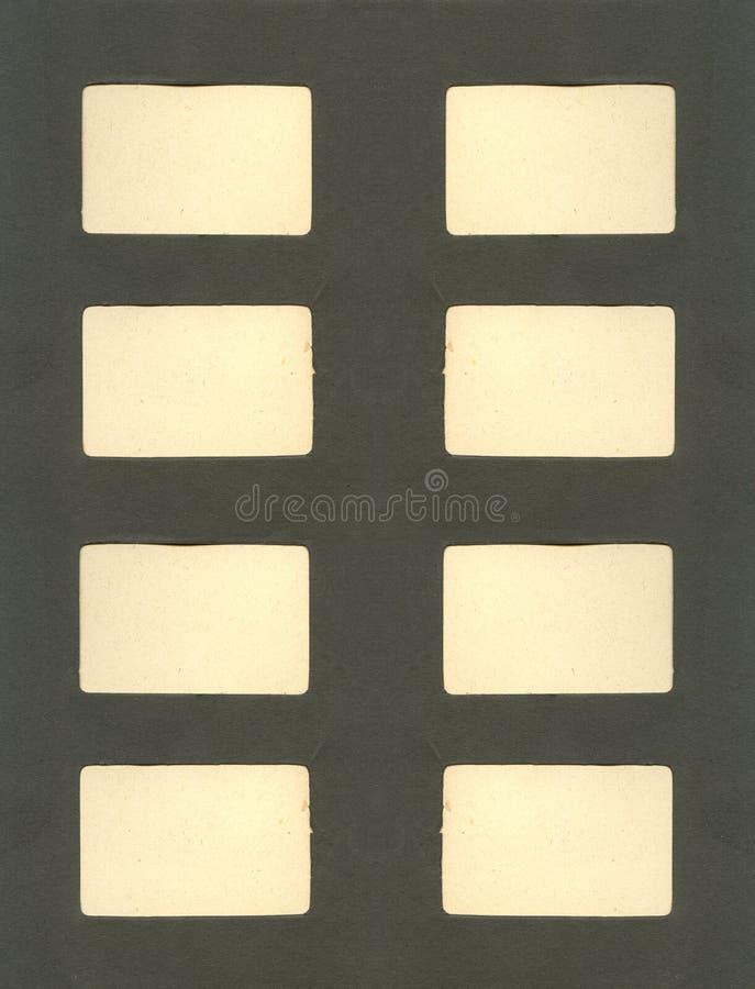 De antieke pagina van het fotoalbum royalty-vrije stock foto's