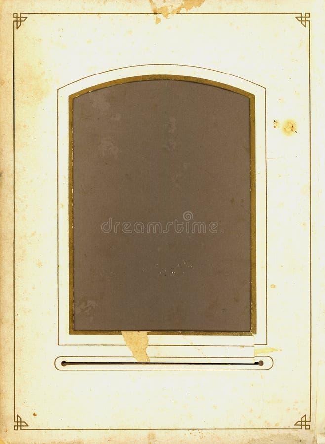 De antieke pagina van het fotoalbum stock fotografie
