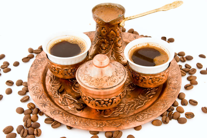 De antieke Reeks van de Koffie royalty-vrije stock foto