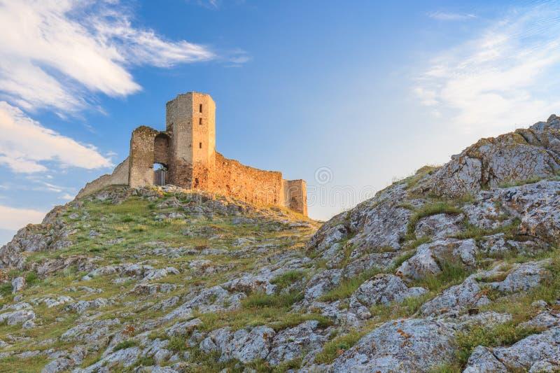 De antieke ruïnes van de Vesting Enisala royalty-vrije stock afbeeldingen