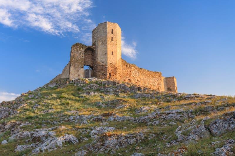 De antieke ruïnes van de Vesting Enisala, Roemenië royalty-vrije stock foto's