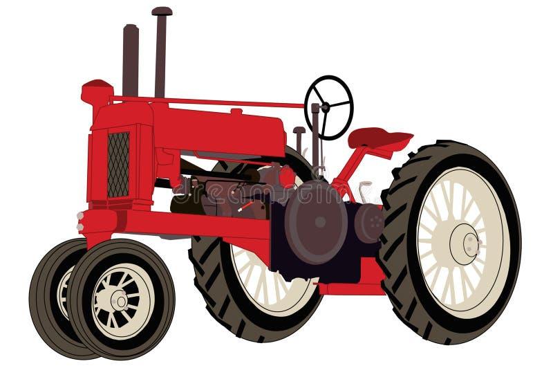 De antieke Tractor van het Landbouwbedrijf vector illustratie