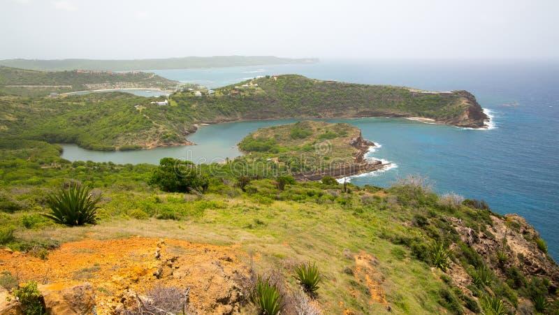 De Antigua, de Caraïbische eilanden, de Engelse Haven en Nelson ` s dokken werf royalty-vrije stock foto