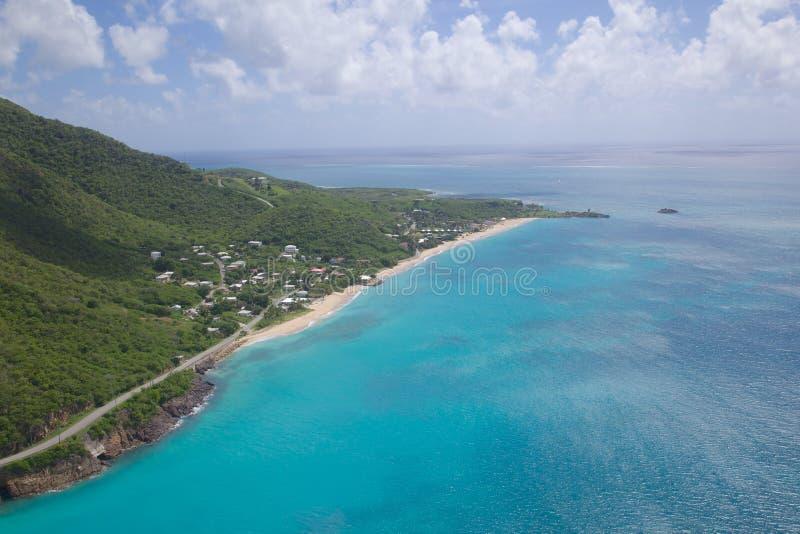 De Antillen, de Caraïben, Antigua, Mening over Keerdersstrand royalty-vrije stock fotografie