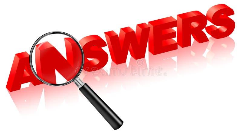 De antwoorden van het onderzoek op vragen lossen problemen op royalty-vrije illustratie