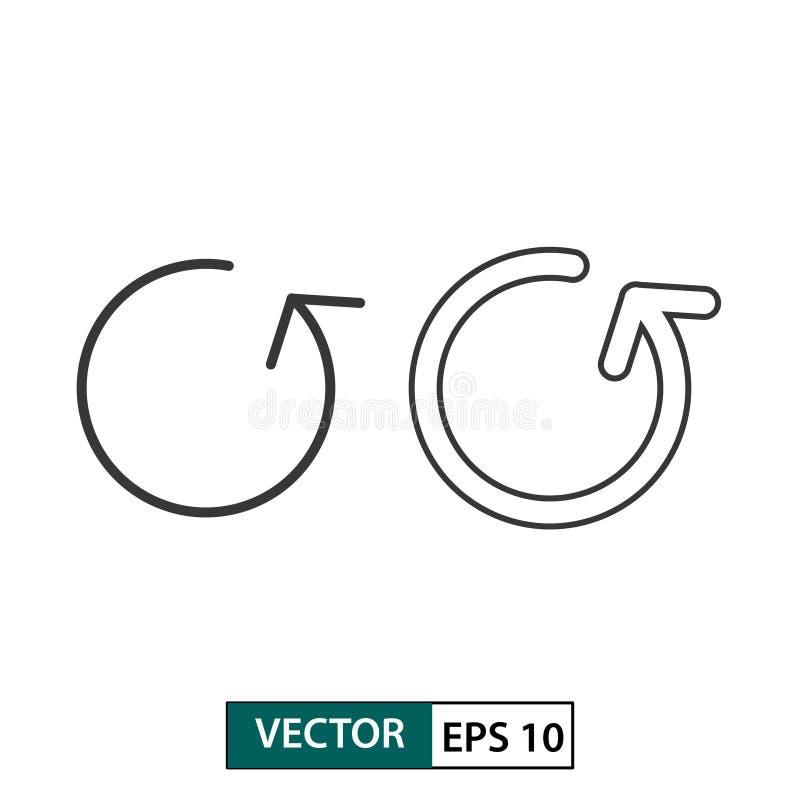 De antwoordknoop roteert reeks van het pijl de vectorpictogram Ge?soleerd op wit Vector illustratie Eps 10 vector illustratie