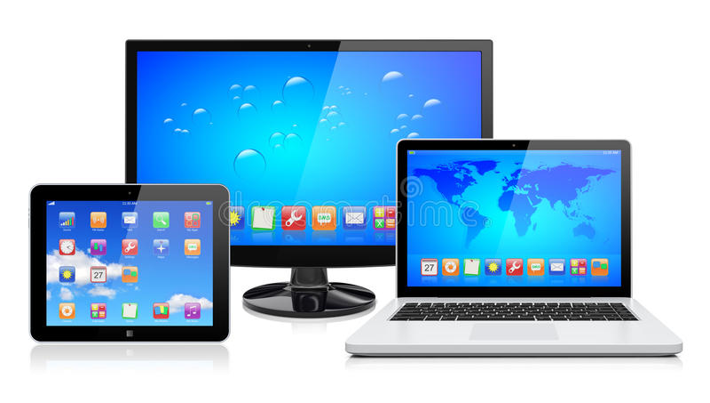 De apparaten van de computer royalty-vrije illustratie