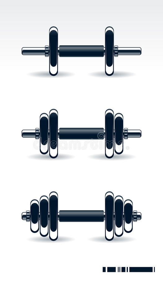 De apparatuur van Bodybuilding stock illustratie