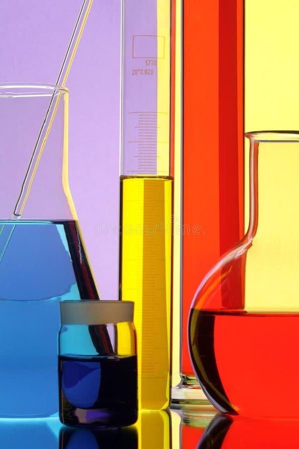 De apparatuur van chemisch laboratorium royalty-vrije stock fotografie