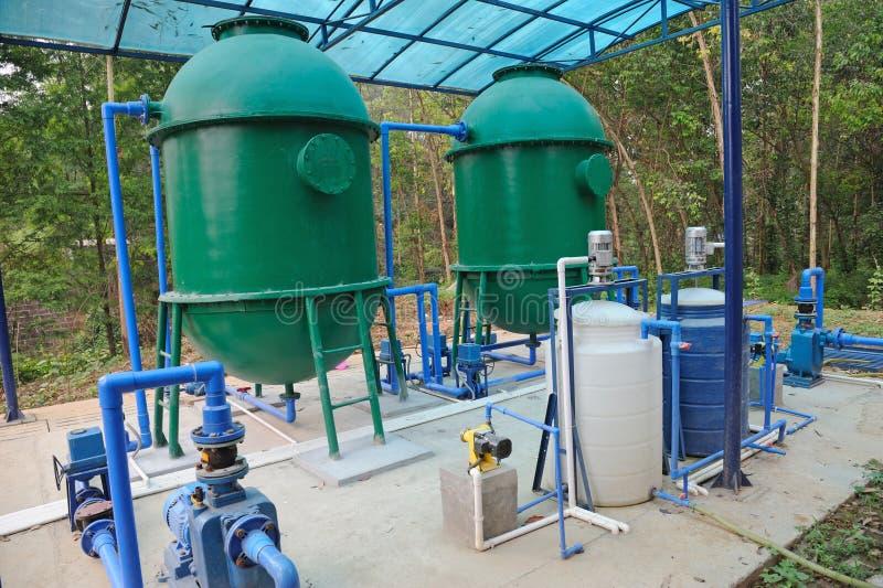 De Apparatuur van de Behandeling van het water stock foto