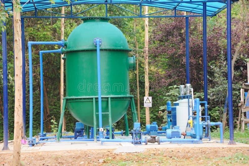 De Apparatuur van de Behandeling van het water royalty-vrije stock afbeeldingen