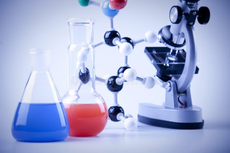 De Apparatuur van de chemie stock foto's