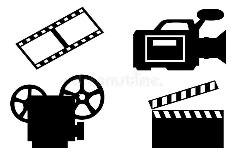 De apparatuur van de cinematografie royalty-vrije illustratie