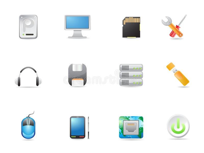De apparatuur van de computer pictogram royalty-vrije illustratie