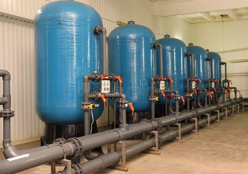 De apparatuur van de de reinigingsfilter van het water stock foto