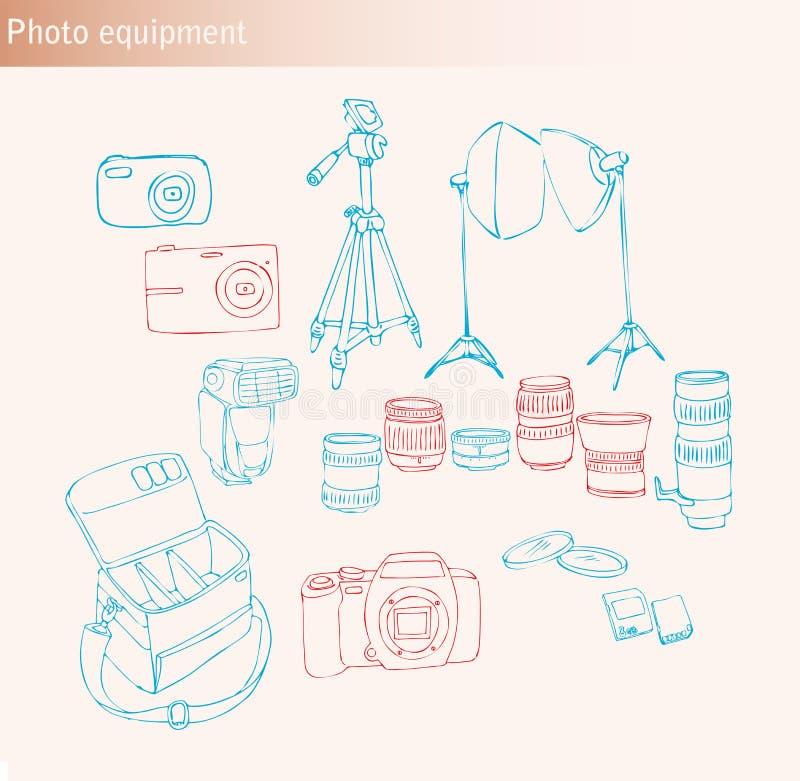 De apparatuur van de foto vector illustratie