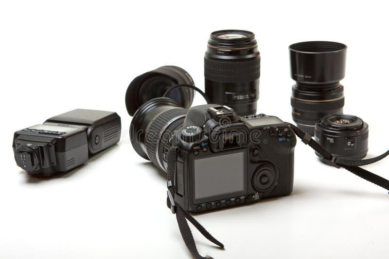 De apparatuur van de foto stock fotografie