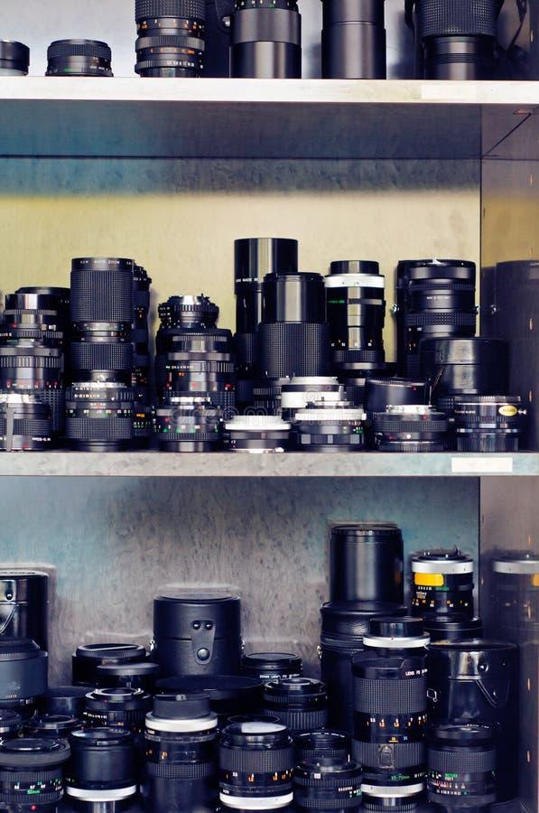 De apparatuur van de fotograaf stock foto