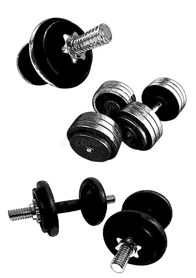 De apparatuur van de gymnastiek royalty-vrije illustratie