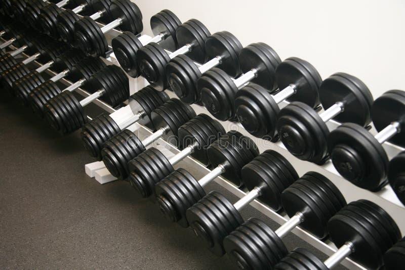 De apparatuur van de oefening gewichten stock foto