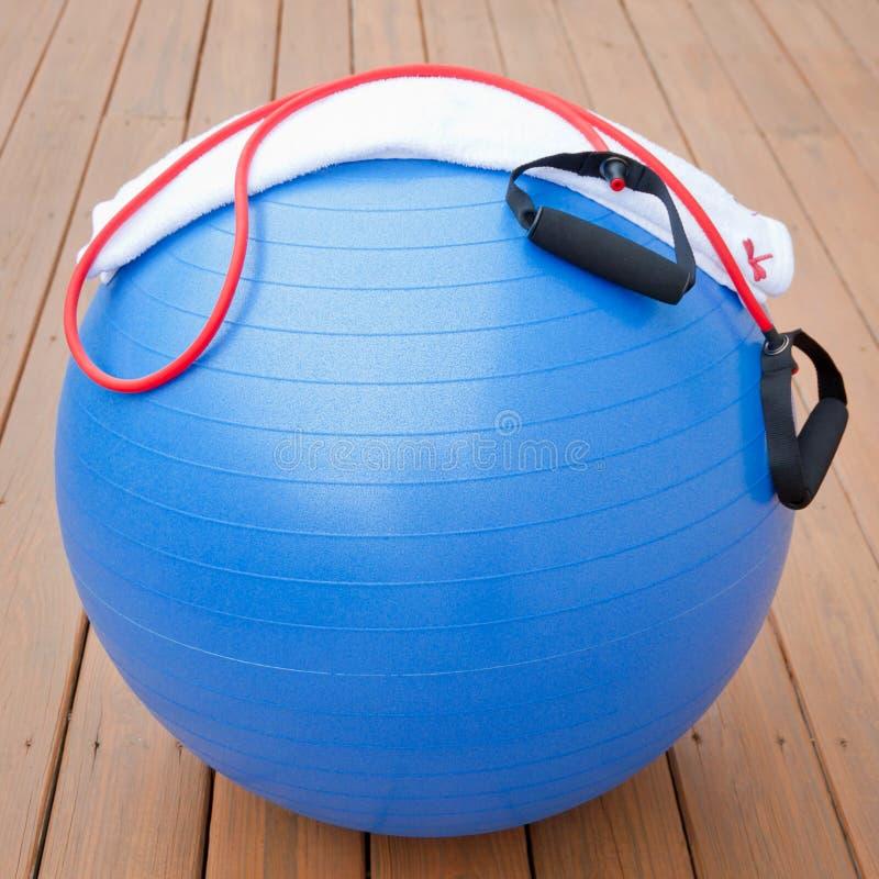 De apparatuur van de oefening voor gezonde levensstijl stock afbeeldingen
