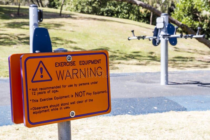 De apparatuur van de oefening waarschuwingssein