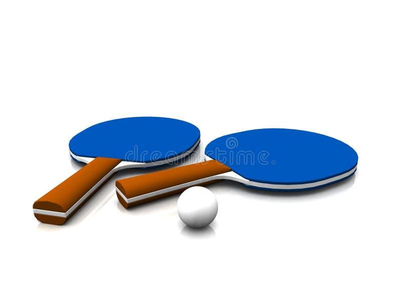 De apparatuur van de pingpong. royalty-vrije illustratie
