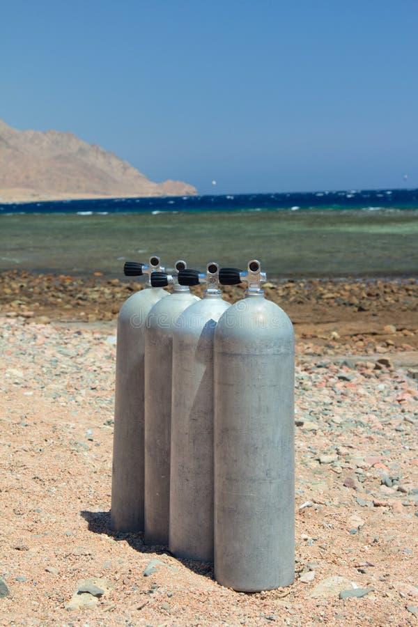 De apparatuur van de scuba-uitrusting stock foto's