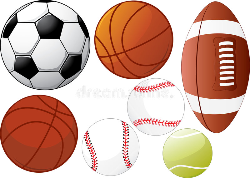 De apparatuur van de sport stock illustratie