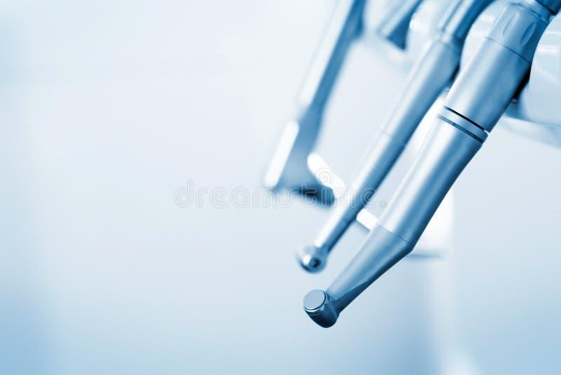 De apparatuur van de tandarts stock afbeeldingen