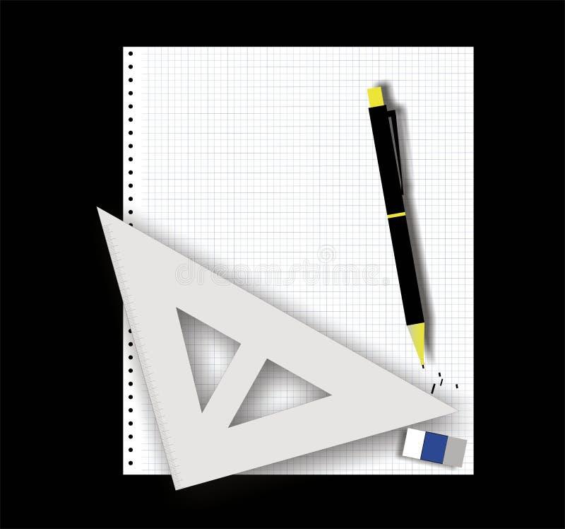 De apparatuur van de tekening stock afbeelding