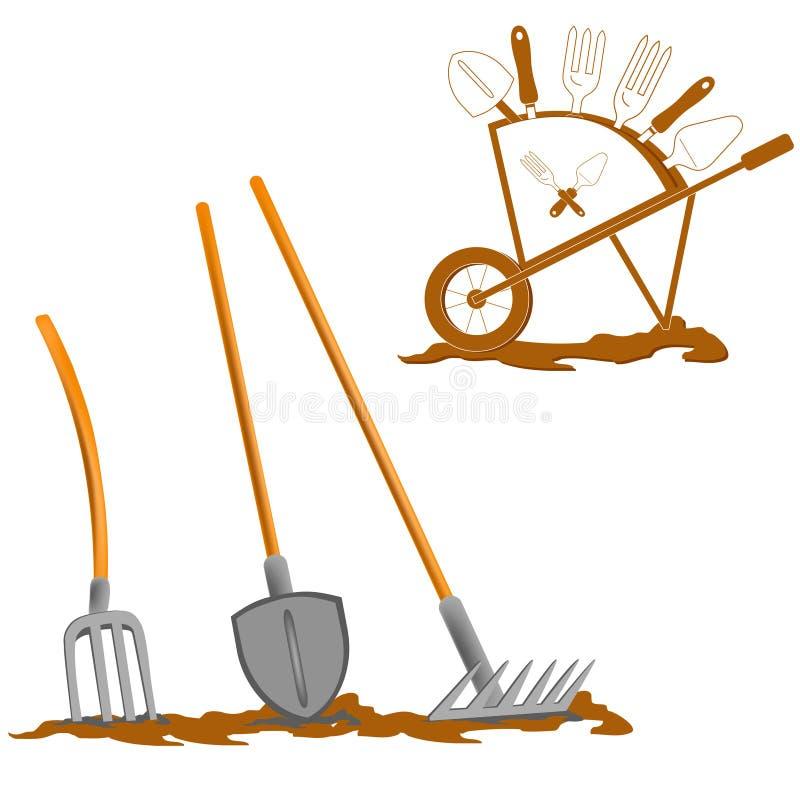 De apparatuur van de tuin, vector illustratie
