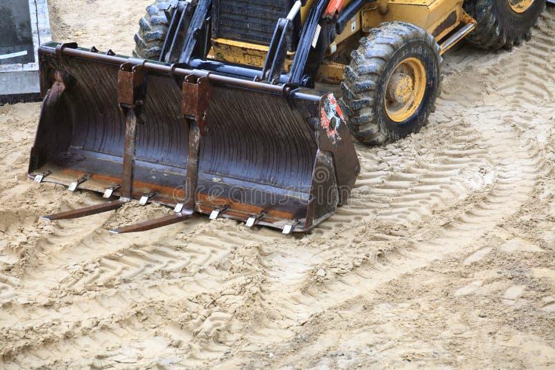 De apparatuur van de uitgraving royalty-vrije stock afbeeldingen