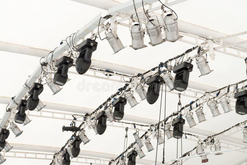 De apparatuur van de verlichting onder dak royalty-vrije stock fotografie