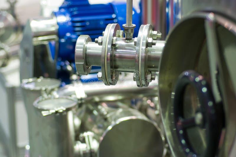 De apparatuur van de voedselbereidingsindustrie. stock afbeelding