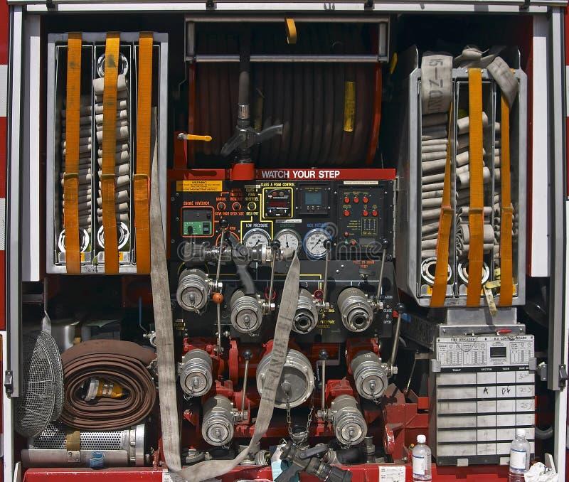 De Apparatuur van de Vrachtwagen van de brand royalty-vrije stock afbeelding