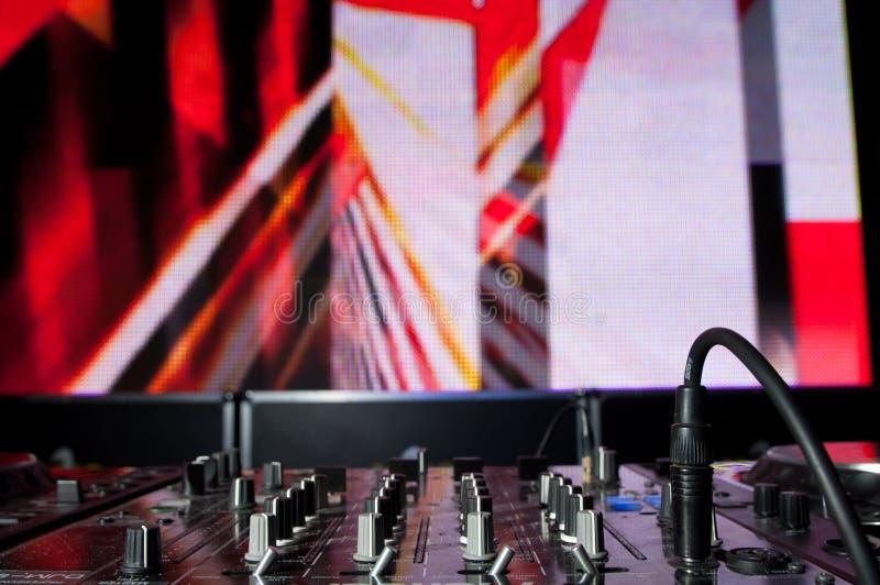 De apparatuur van DJ achtergrond stock foto