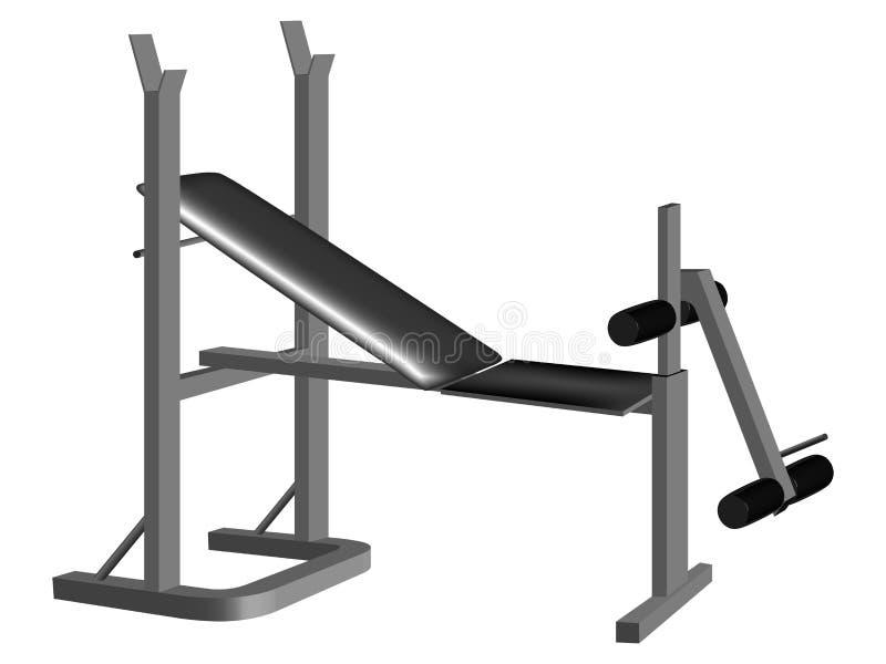 De apparatuur van het gewichtheffen royalty-vrije illustratie